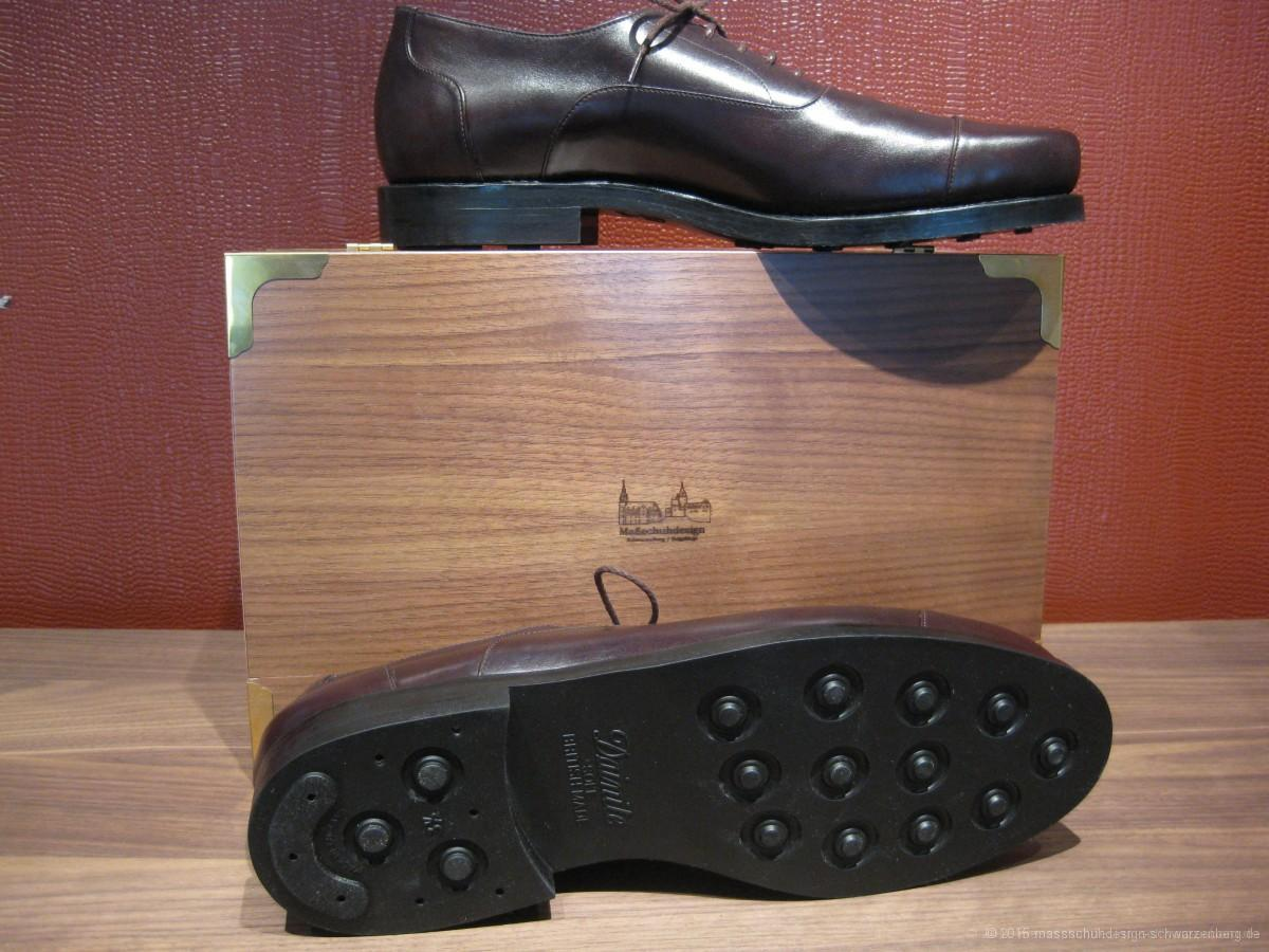 Herren Business Schuhe in dunkelbraunen Boxcalf